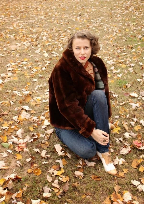 My 1940s Autumn #1940s #autumn #fashion #vintage #winter #coat
