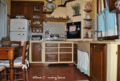 Elena country home la mia country cucina for Tendine per cucina rustica