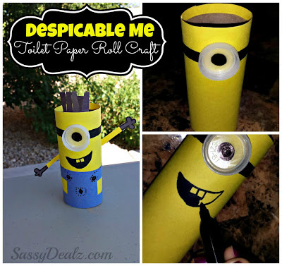 despicable me toilet paper roll craft