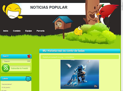 Template do Noticias Popular para Blogger