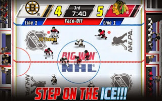 Screenshots of the Big Win NHL Hockey for Android tablet, phone.