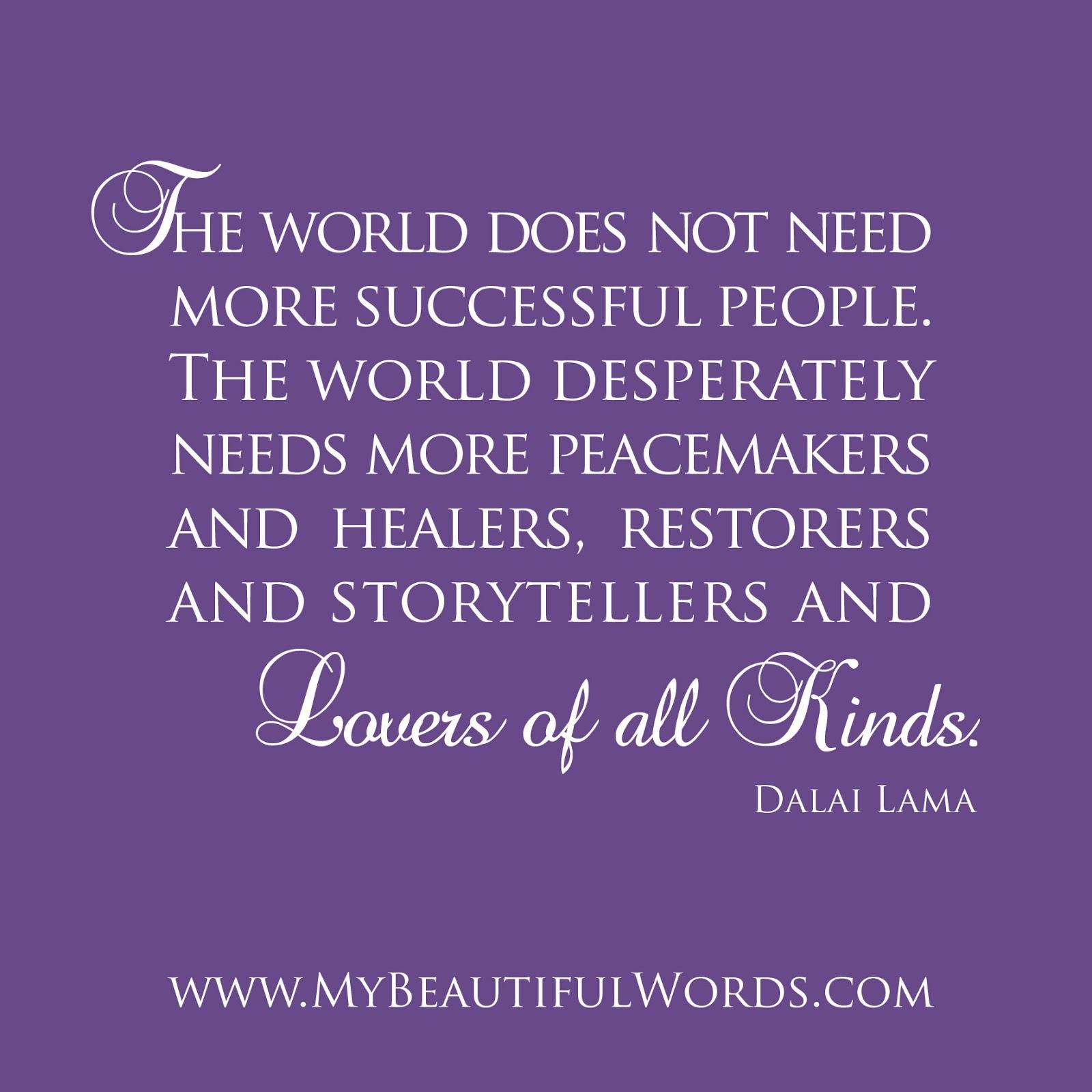 Dalai Lama Quotes on Peace. QuotesGram