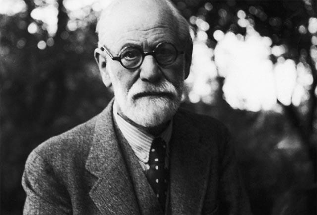 Portrait of Sigmund Freud.