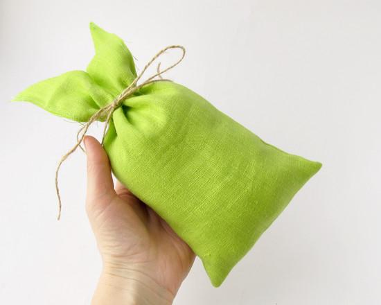 apple green gift bag, мешок для конфет