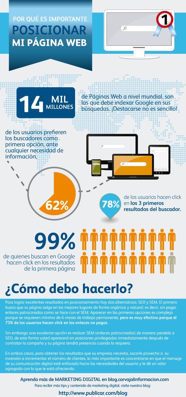 Infografía sobre páginas web