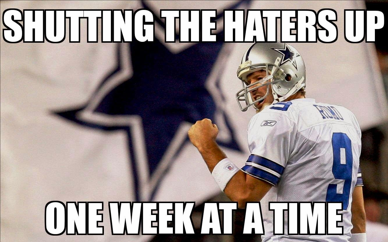 shutting the haters up one week at a time