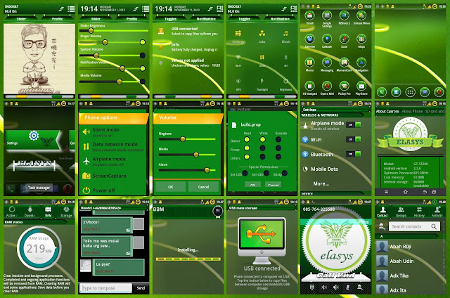 Screenshot Theme Greenela Elasys V3/v3.1