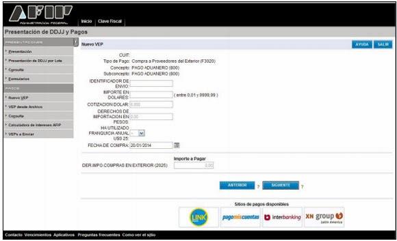 C Mo Generar El Vep Para El Pago Del Arancel Del 50 F 4550 Ignacio Online