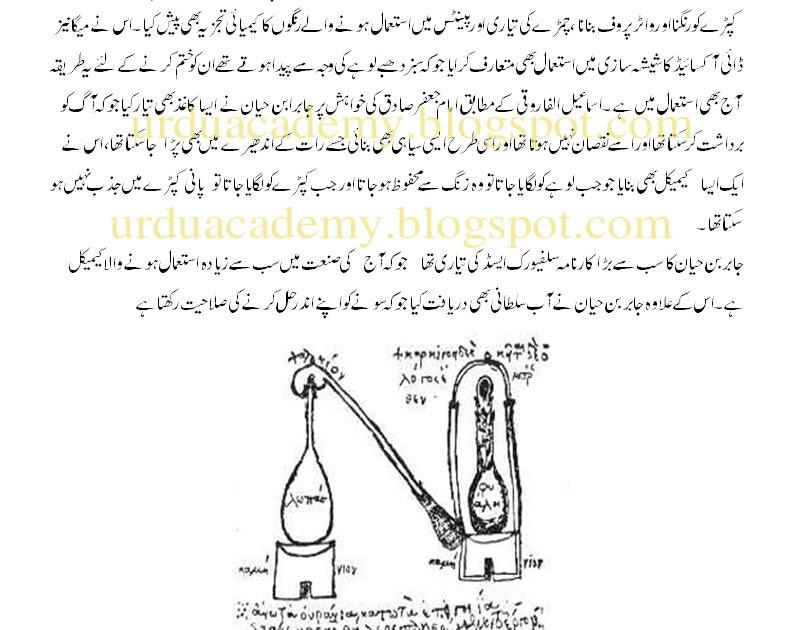 Inventions of jbir ibn hayyn in urdu and english online academy urtaz Choice Image