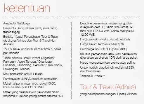 Jawa Pos Iklan Paket Tour And Travel 2014