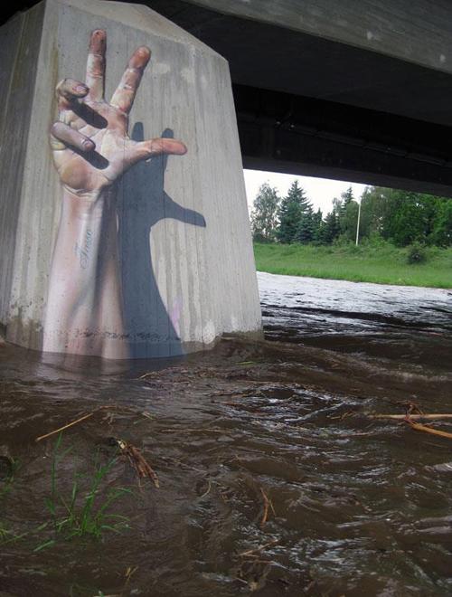 exemplos de arte urbana - Street Art - Mão