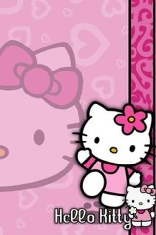 wallpaper iphone 5 pink kitty - photo #24