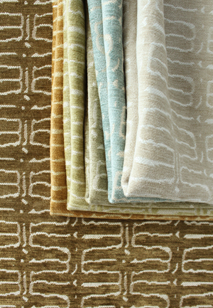 modern patterned chenille