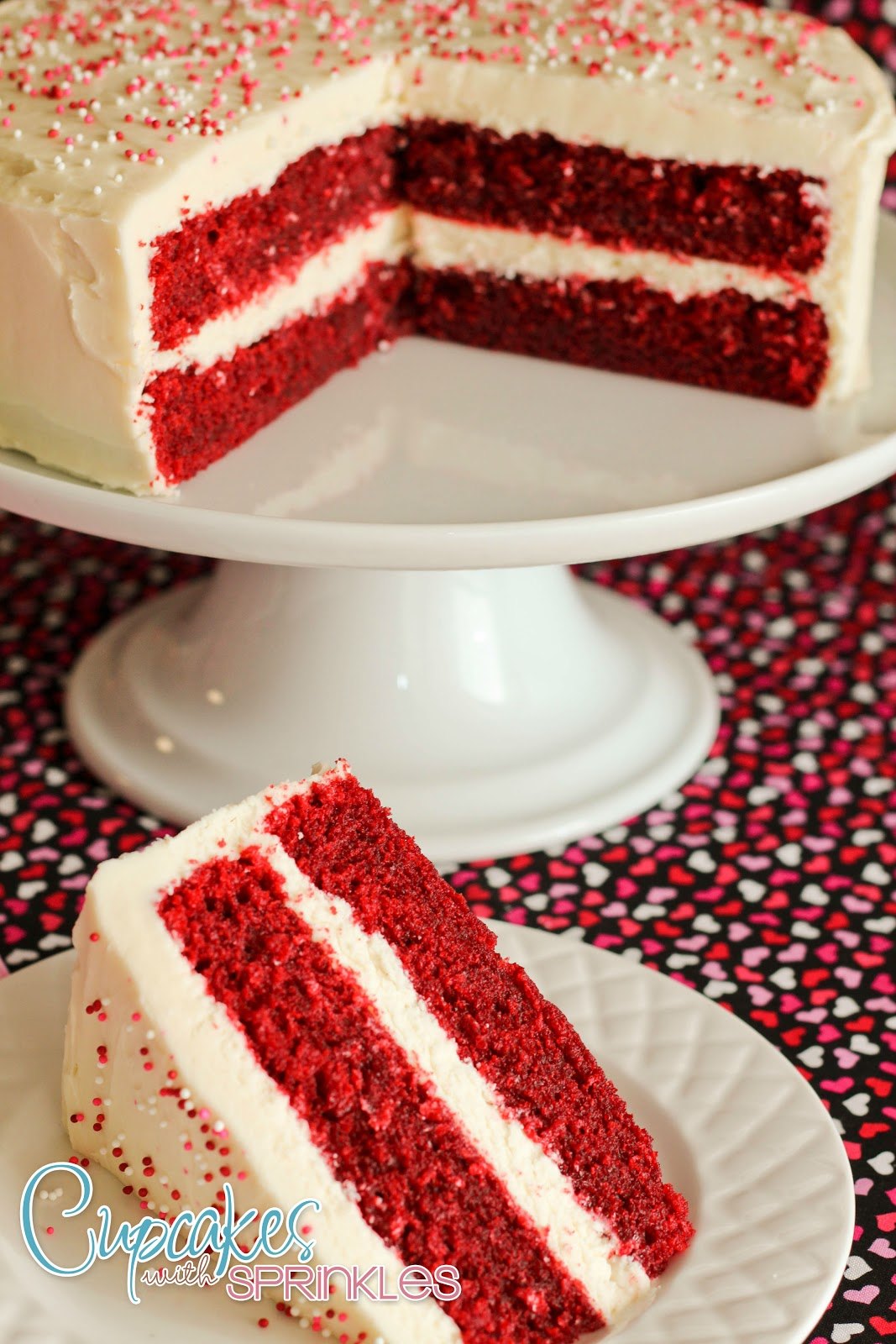 Red Velvet Cake Recipe with cream cheese frosting