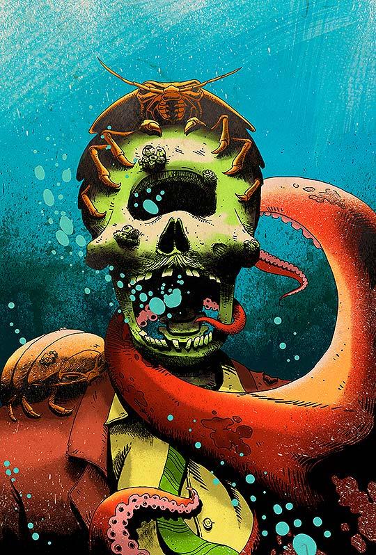 Ilustración, mundos extraños y colorido de Pedro Correa