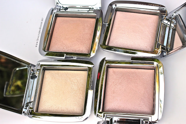 hourglass ambient strobe lighting powder swatches