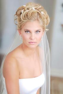 wedding updos with veil for medium length hair