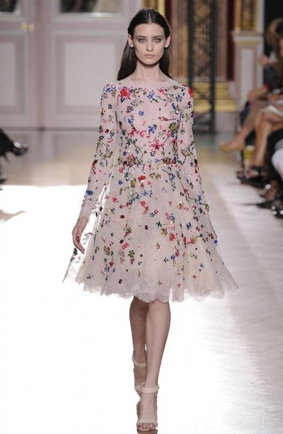 Zuhair Murad Desenli Elbise Modelleri 2013 Çiçekli elbise modelleri