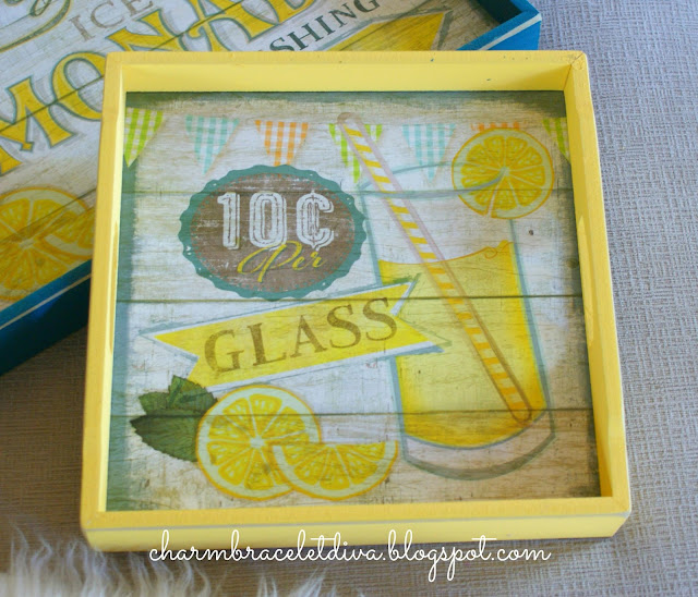 "Sam's Club vintage inspired ""Lemonade"" serving trays"
