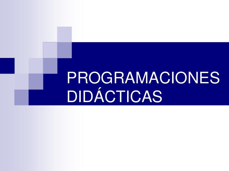 PROGRAMACIONES DEL CURSO 2020/2021