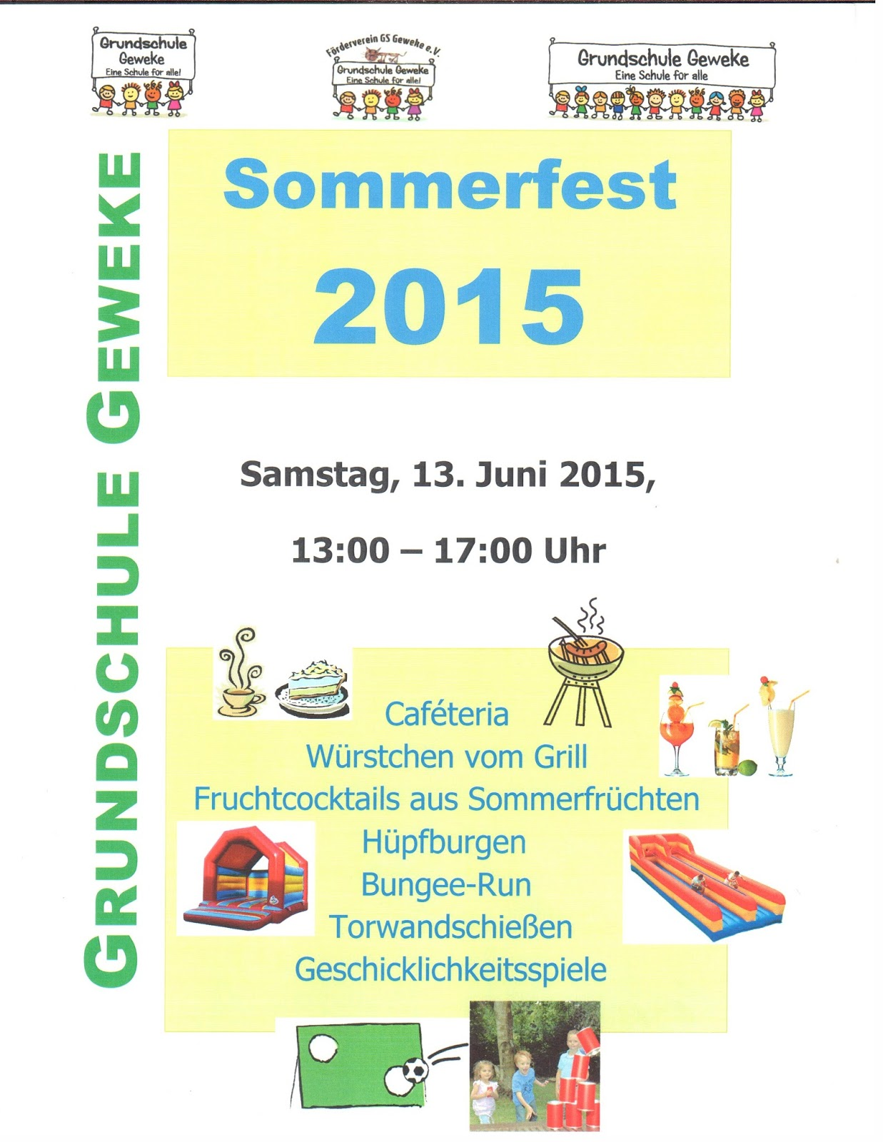 grundschule geweke vorfreude auf das sommerfest 2015. Black Bedroom Furniture Sets. Home Design Ideas