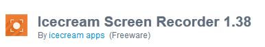 Download Icecream Screen Recorder 1.38 Offline Installer