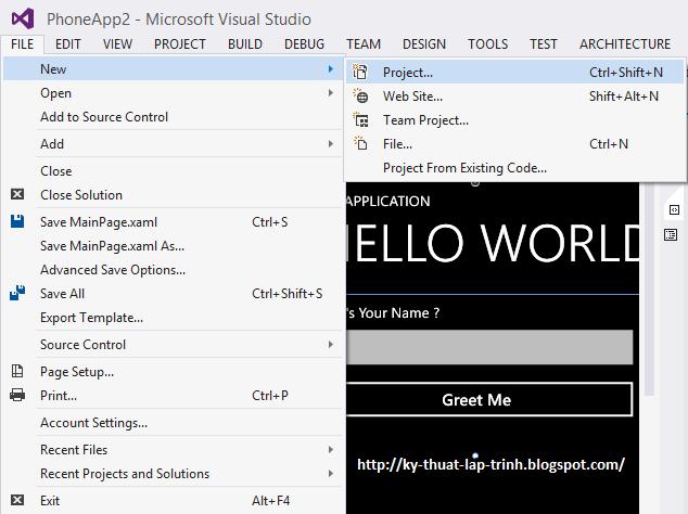 Windows Phone: Tạo và Viết ứng dụng trên Windows Phone 8.0
