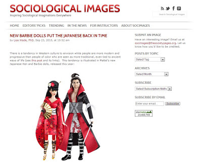 Japanese-inspired Barbie dolls on Sociological Images