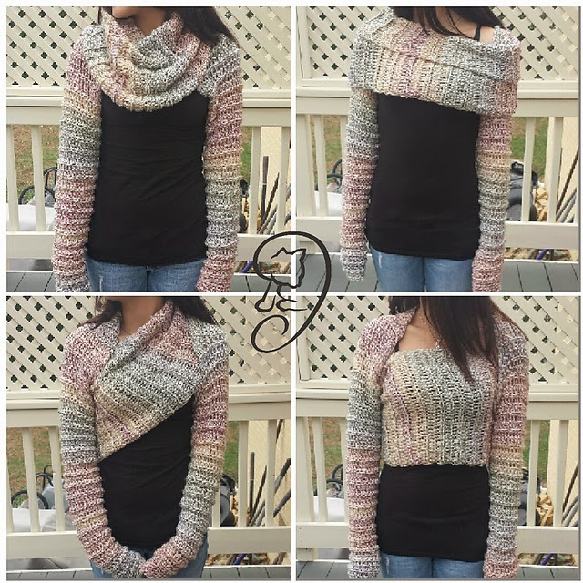 free crochet pattern wrap around shrug
