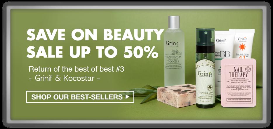 memebox 미미박스 Commercial 50% discount sale grinif kocostar cleansing bar cream mist powder ampoule balm nail primer