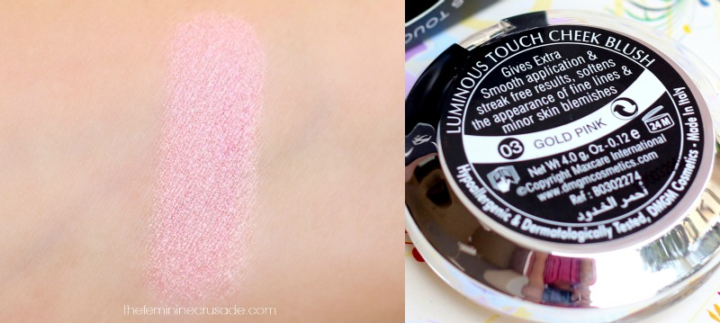 DMGM Luminous Touch Cheek Blush in 'Gold Pink'