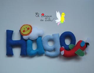 nombre-fieltro-decoración-infantil-hechoamanoparati-elbosquedelulu-name-banner-felt-feltro-detalle-nacimiento-personalizado-Cloe-Hugo
