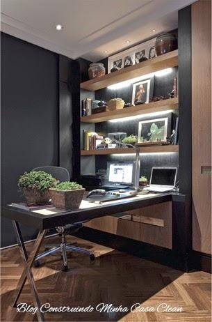home offices decorados : ... Minha Casa Clean: Home Office e Escrit?rios Masculinos Decorados
