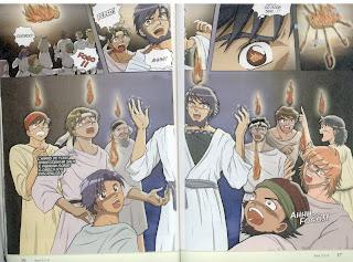 O dia de Pentecoste em Mangá.