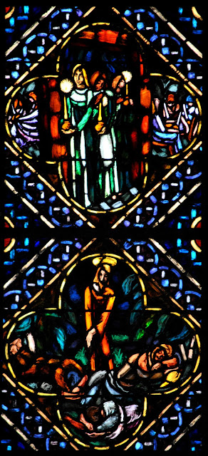 Lausanne Cathedral stained glass