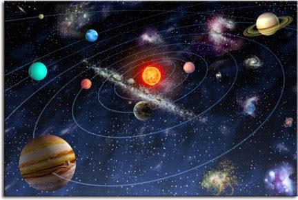 Los planetas y su orbita alrededor del sol central