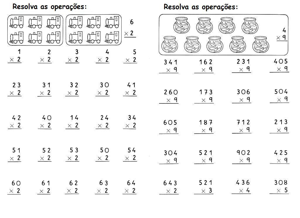 ATIVIDADES MULTIPLICA    O 2   E 3   ANOS