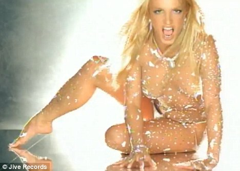 britney spears toxic costume. ritney spears toxic red hair.