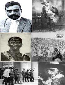 Zapata, Sandino, Zumbi, Antônio Conselheiro, os panteras negras,  Lampião