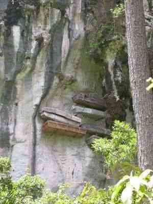 photo of hanging coffins- sagada, philippines