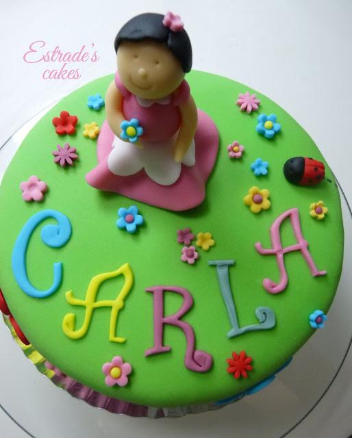 tarta de fondant de niña - 1