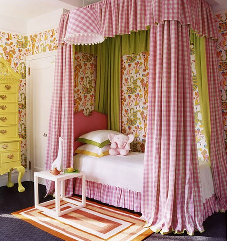 little girls pink bedroom with canopy bed Bobbin Scissors Thread: The closest I ever got to sleeping underneath a bed canopy