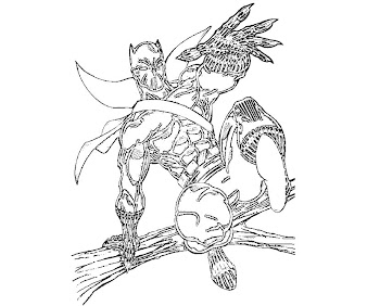 #6 Black Panther Coloring Page