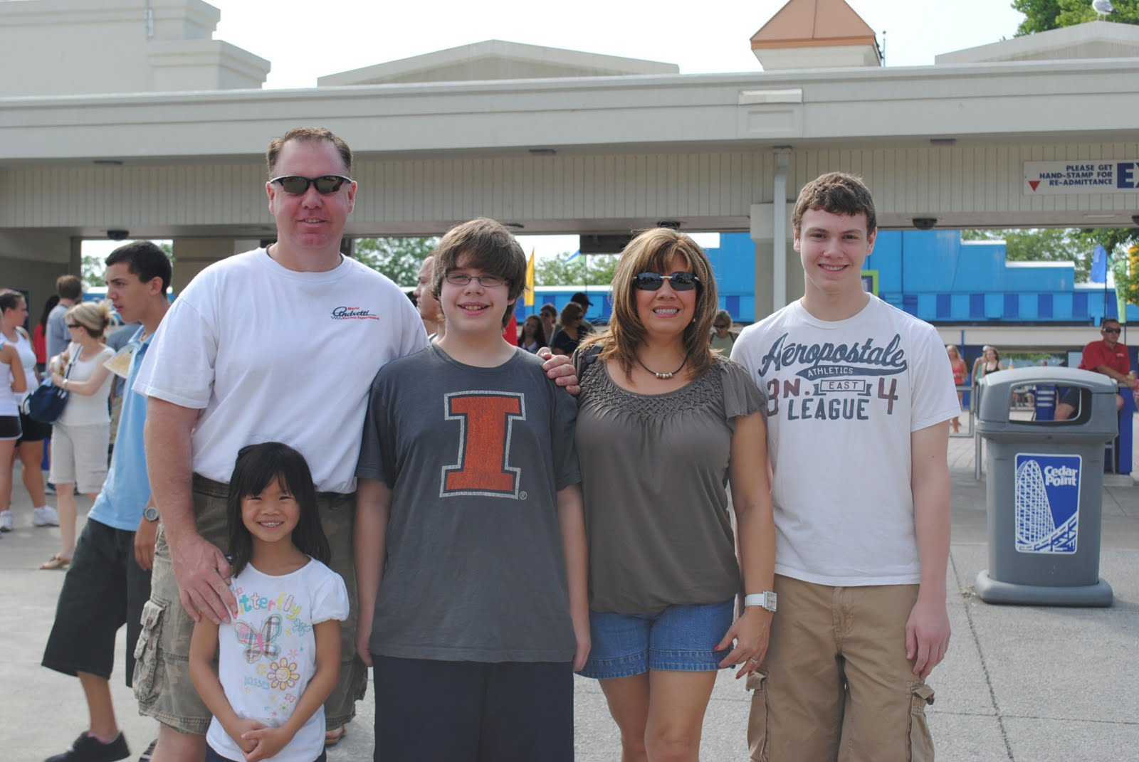 we recently visited cedar point the amusement park and water park the