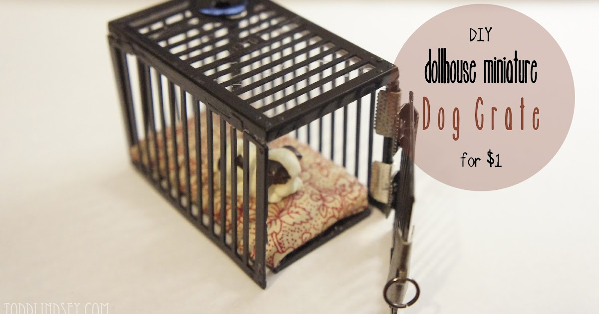 Domer Home Diy Dollhouse Miniature Dog Crate For 1