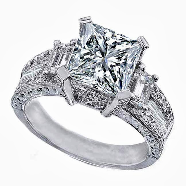 Ring settings for princess cut diamonds as one of Diamond Styles Ring Review