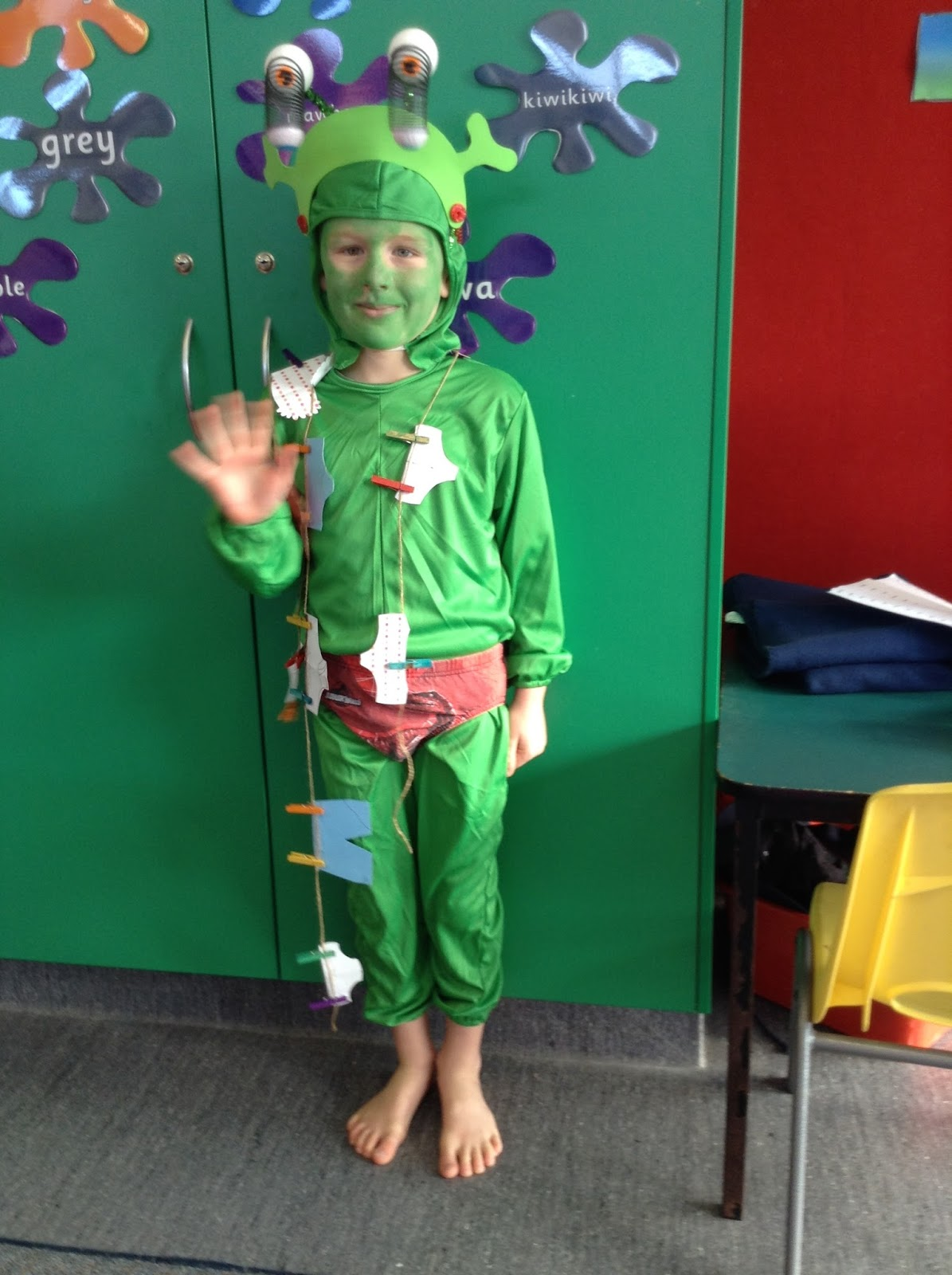 Bob got to choose a book for his amazing costume. He is an alien from the book  Aliens love underpants!   sc 1 st  First Flight - Welcome Bay School & First Flight: Book Character Day