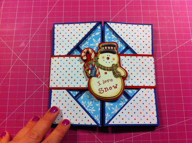 napkin-fold-card-snow-man-sparkle-cute-winter-snow