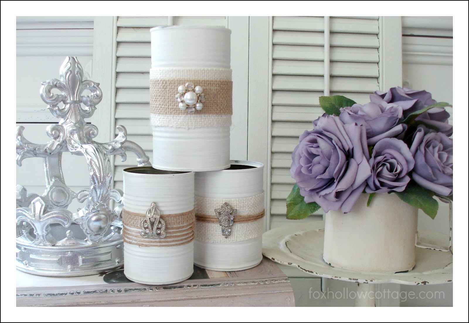 Tin cans for crafts - Shabby Vintage Tin Can Craft