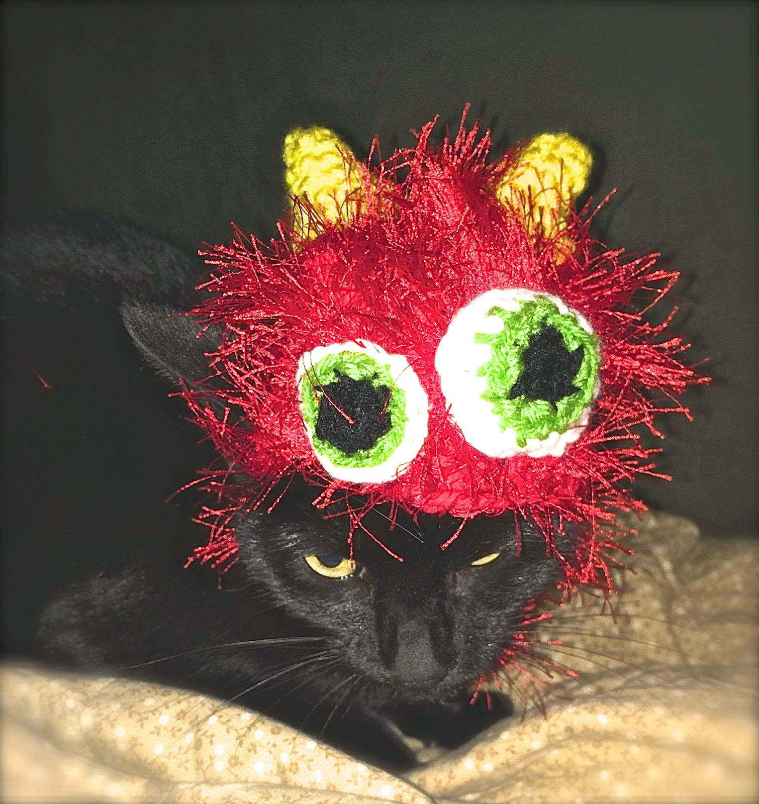 monster hat for cat